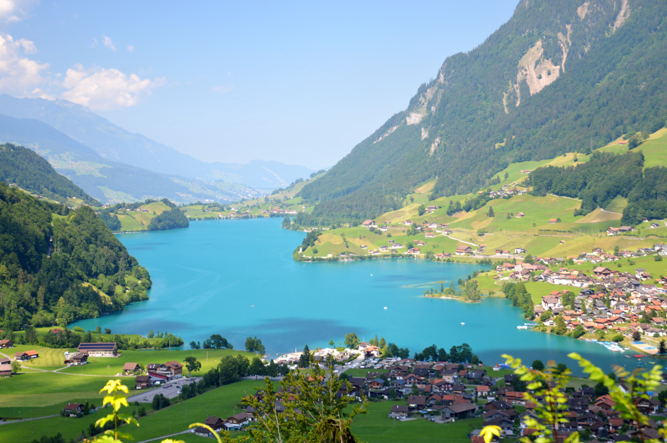 Typical landscapes in Switzerland