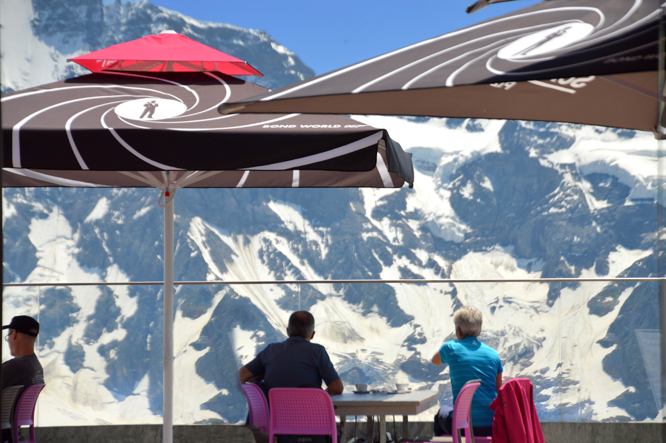 A view on the way to the rotating restaurant at Piz Gloria