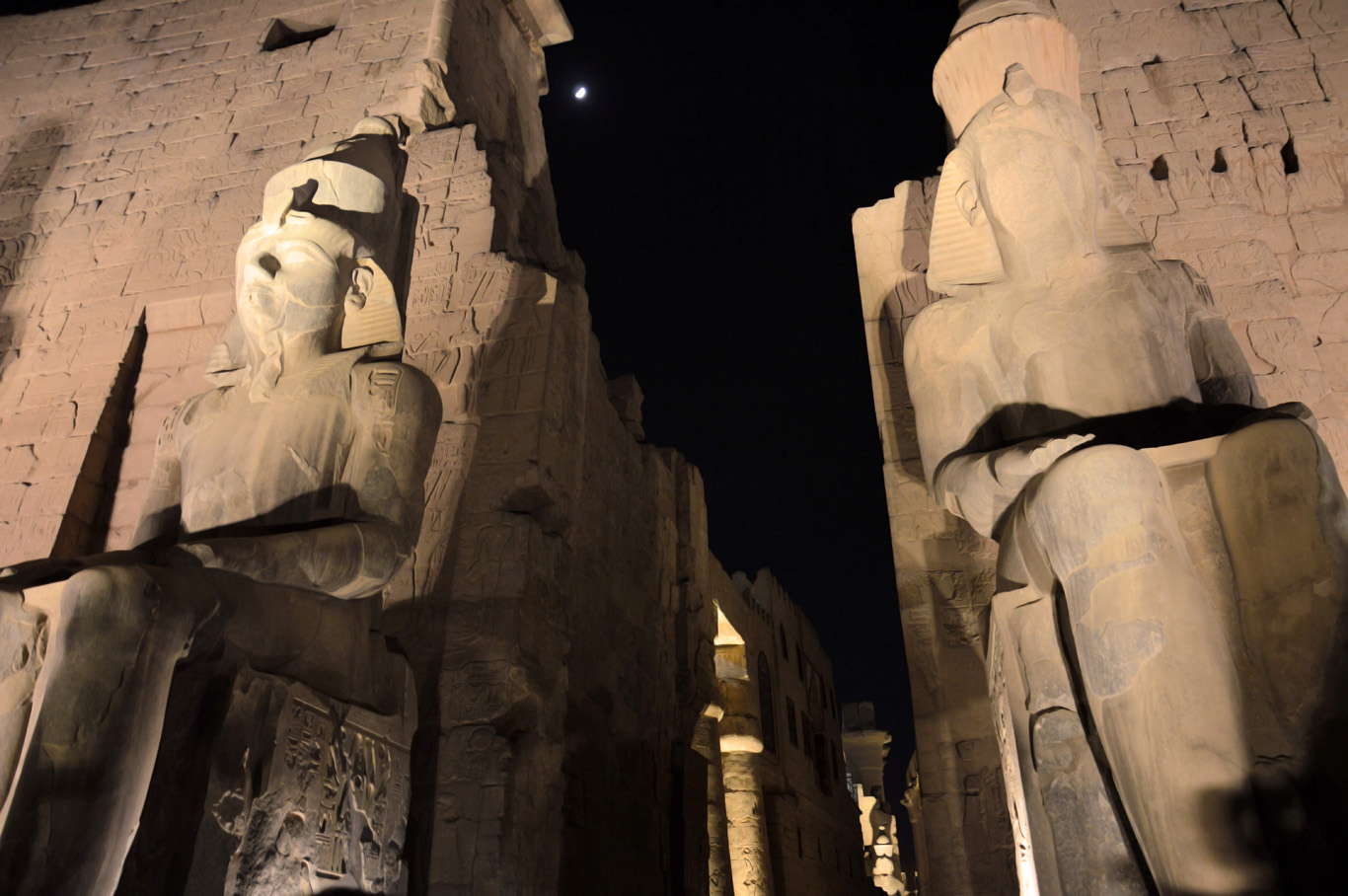 Luxor Temple at night     more info