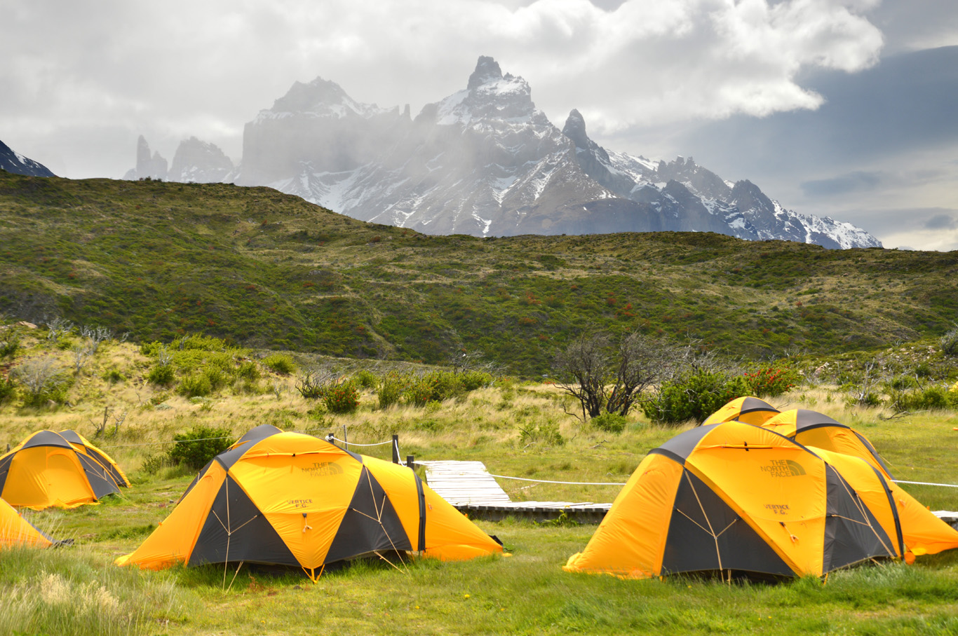 Tents in Paine Grande Camping site