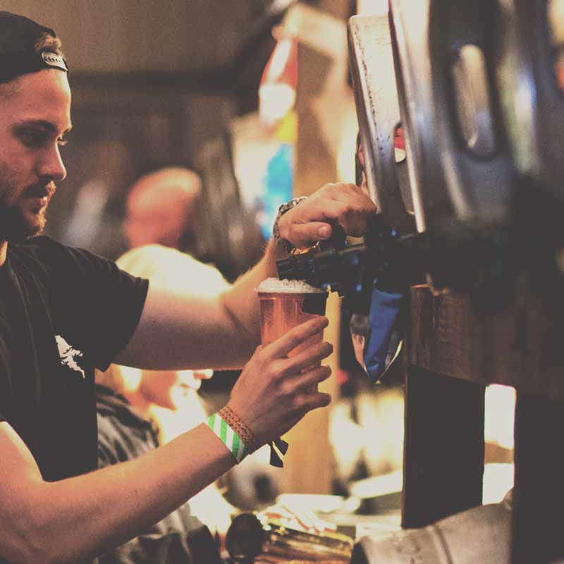 Try our beers served fresh from the cask!
