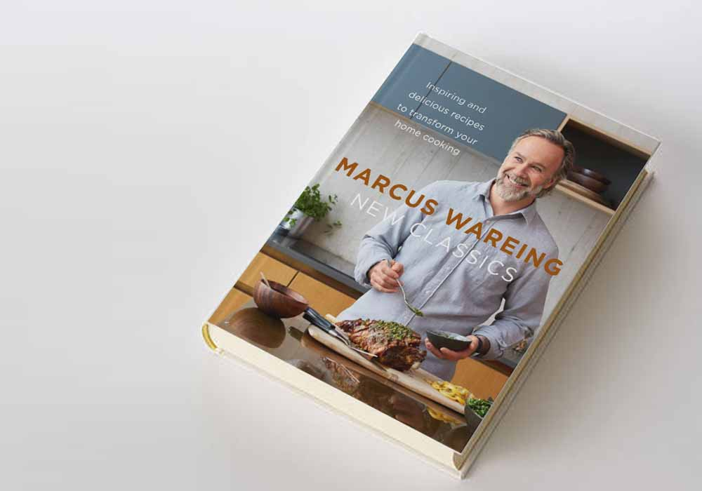 Marcus Wareing's book, New Classics, that features the Beef, Ale and Chorizo Pie