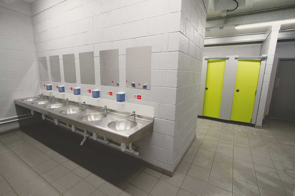 The campsite toilets & showers