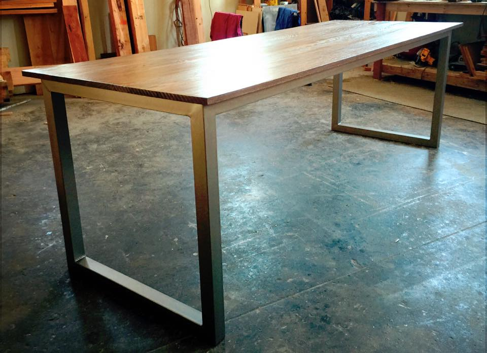 Xon Metal-Oak Table/Desk
