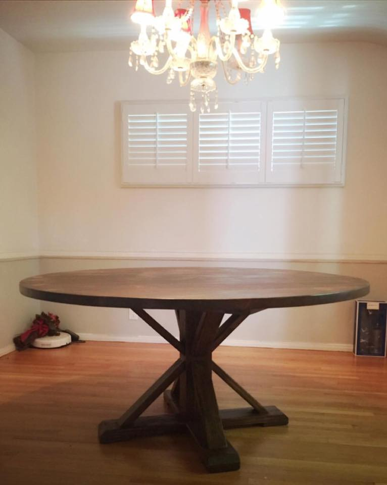 Circle Blue Dining Table