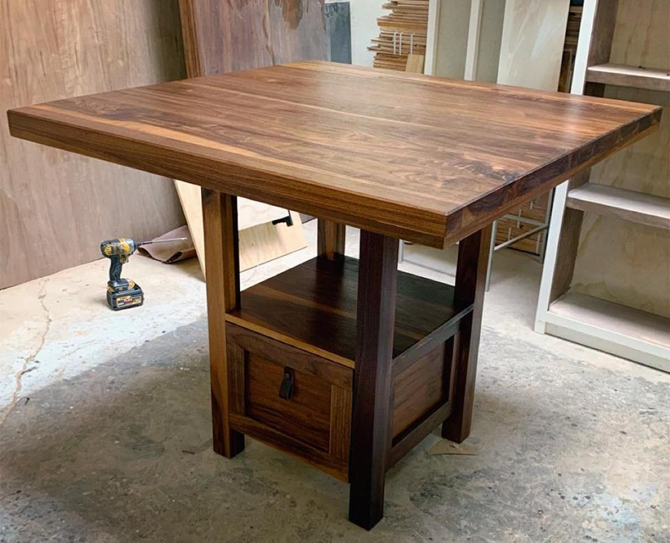 Larisse Walnut Dining Table