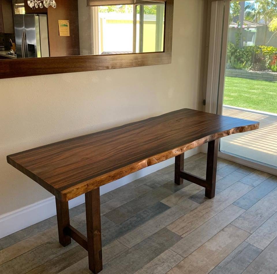 Hawaiian Monkey pod Dining Table
