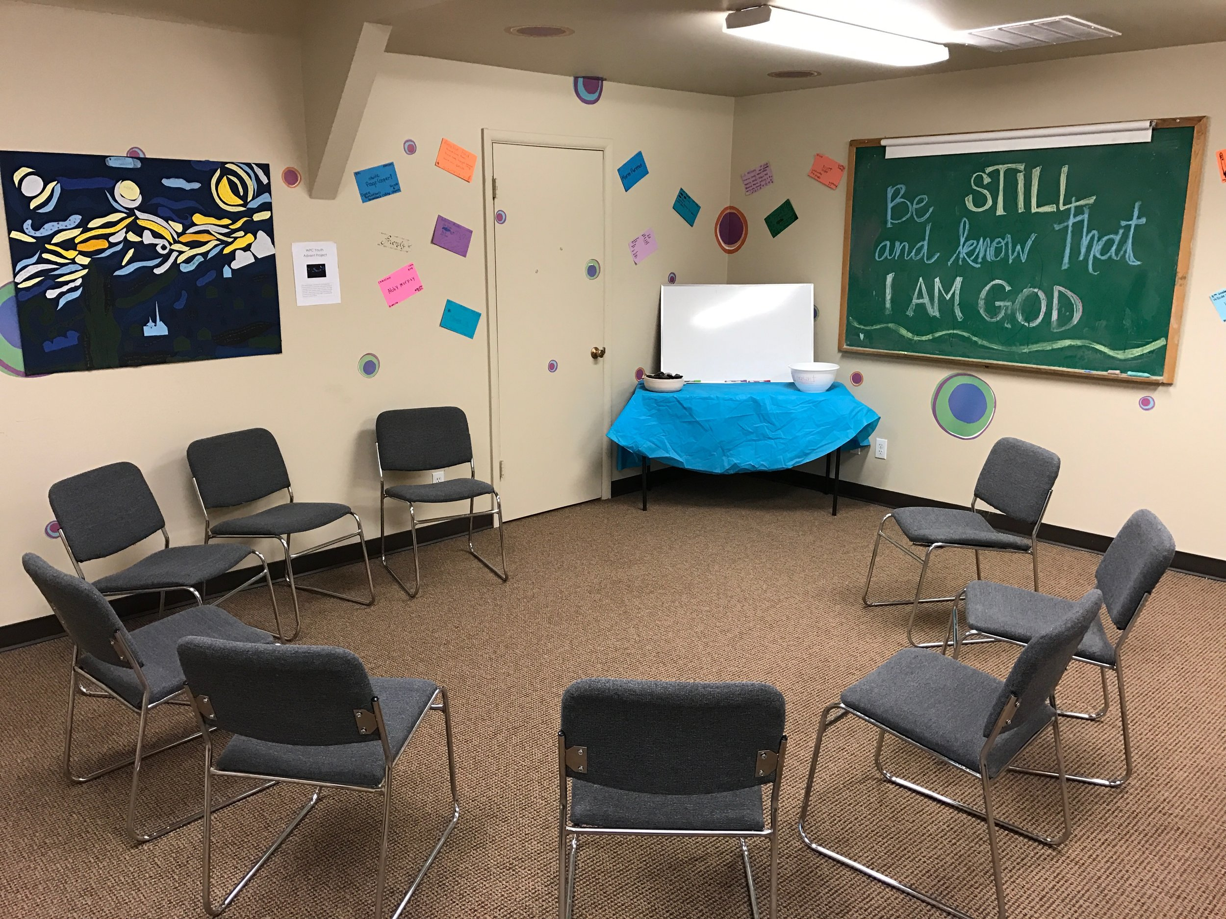 The new and improved youth Sunday school classroom -- Room 301