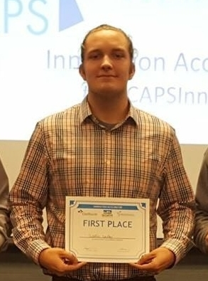 Westin Easley's business improvement product won first place in GO CAPS's Innovation Accelerator Program.