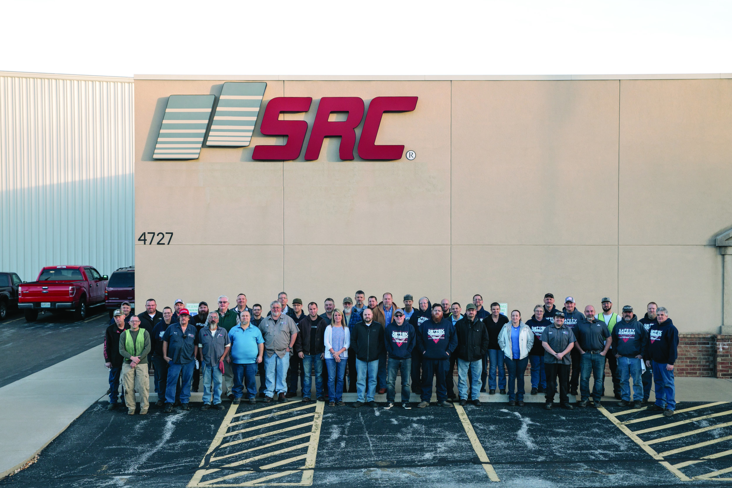 SRC Heavy Duty employee owners at the 4727 East Kearney Street facility in Partnership Industrial Park in Springfield, Missouri