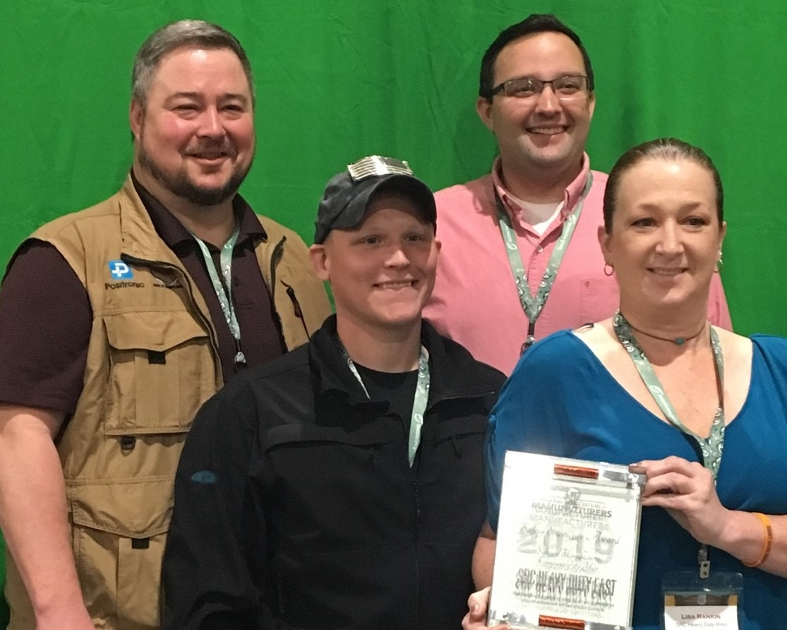 From left to right: Jim Cody, EHS Manager; Terry Osborne, Production; Aaron Doucette, Safety Coordinator; and Lisa Rankin, Production