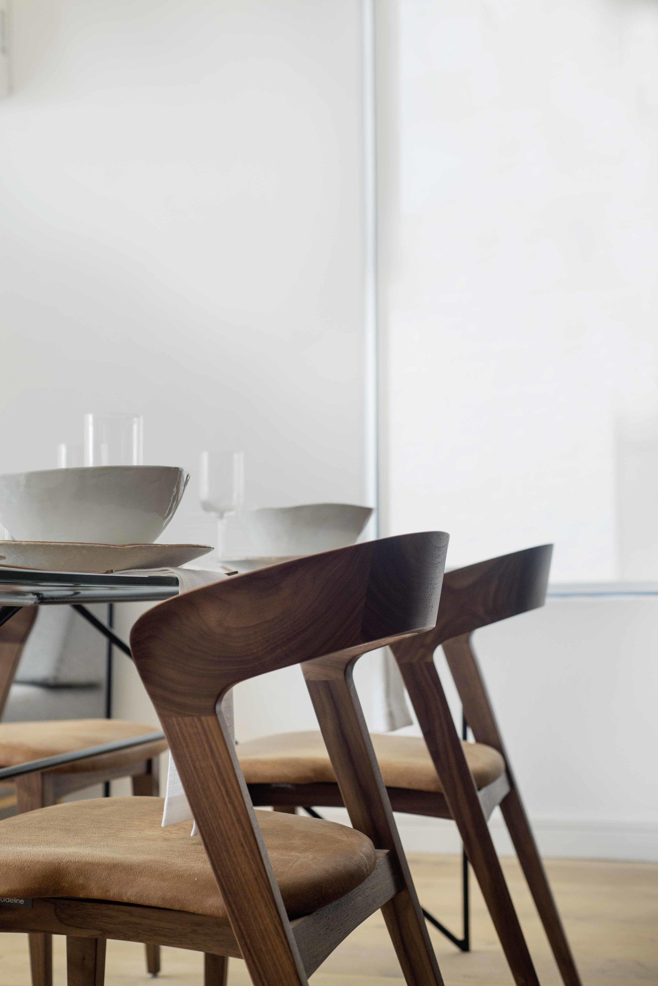Wallnut Tulip chairs