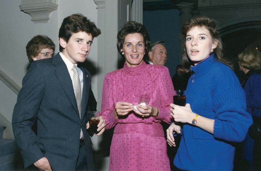 Jon Baliles on left at Governer's mansion.