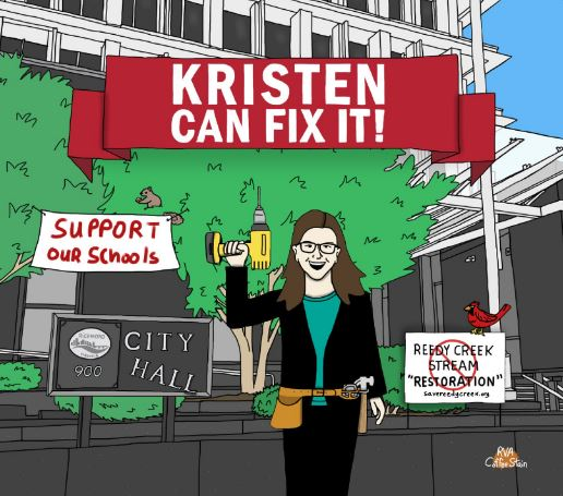 RVA Coffee Stain's Kristen Larson artwork.