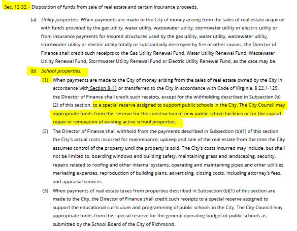 Section 12-32, section B1: the special reserve fund