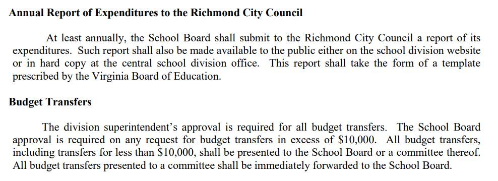 Richmond School Board Policies