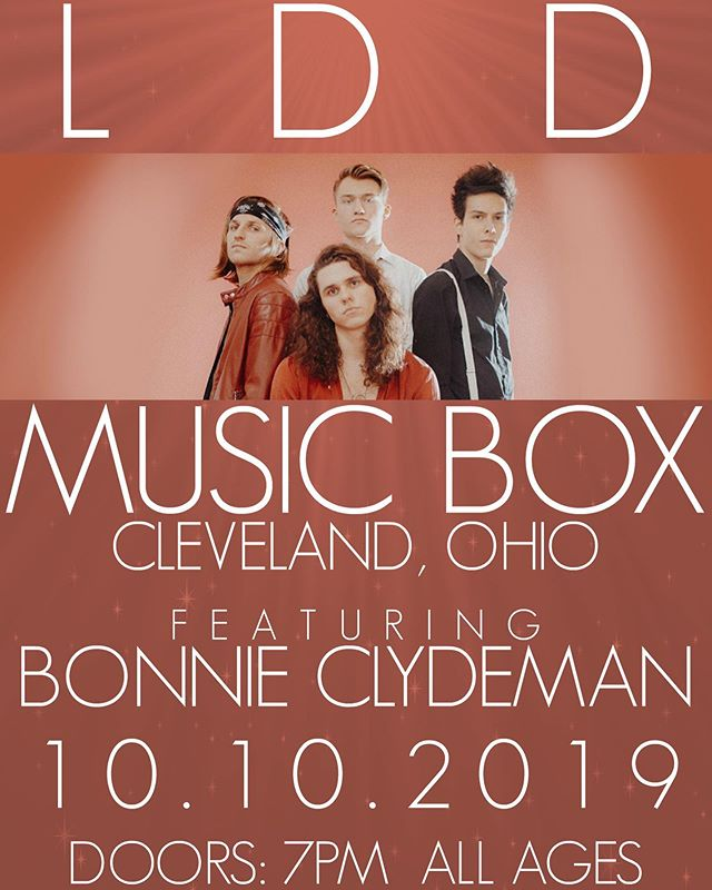 C L E V E L A N D. It's been too long and we're finally  coming back to you 10/10/19 at @musicboxcle with @bonnieclydeman. Tickets available at the Music Box website. See you there!