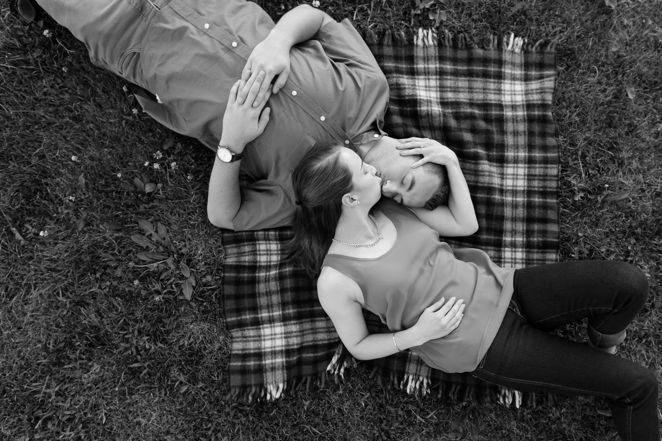 picnic-engagement-photo