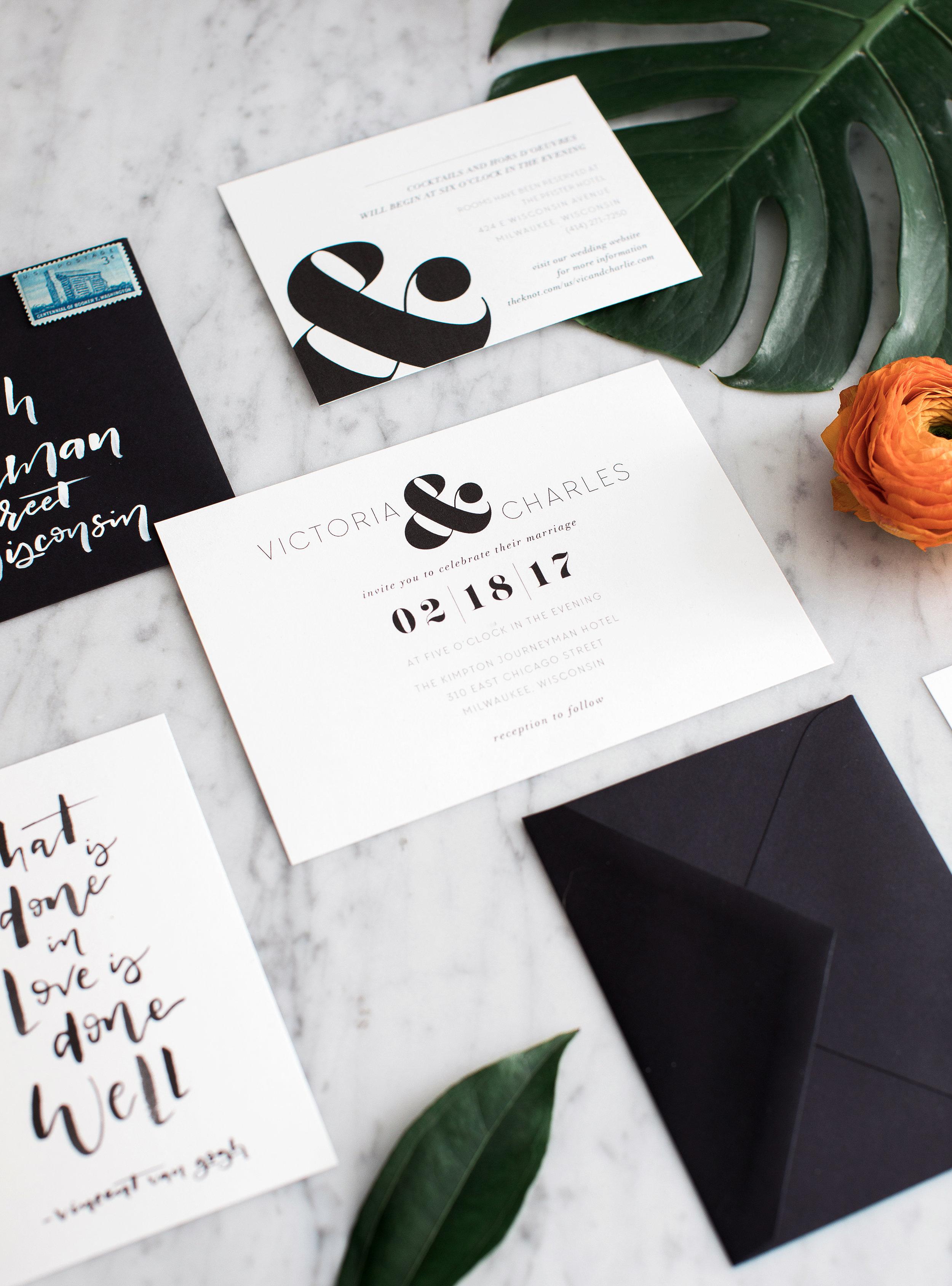 black-and-white-invitation