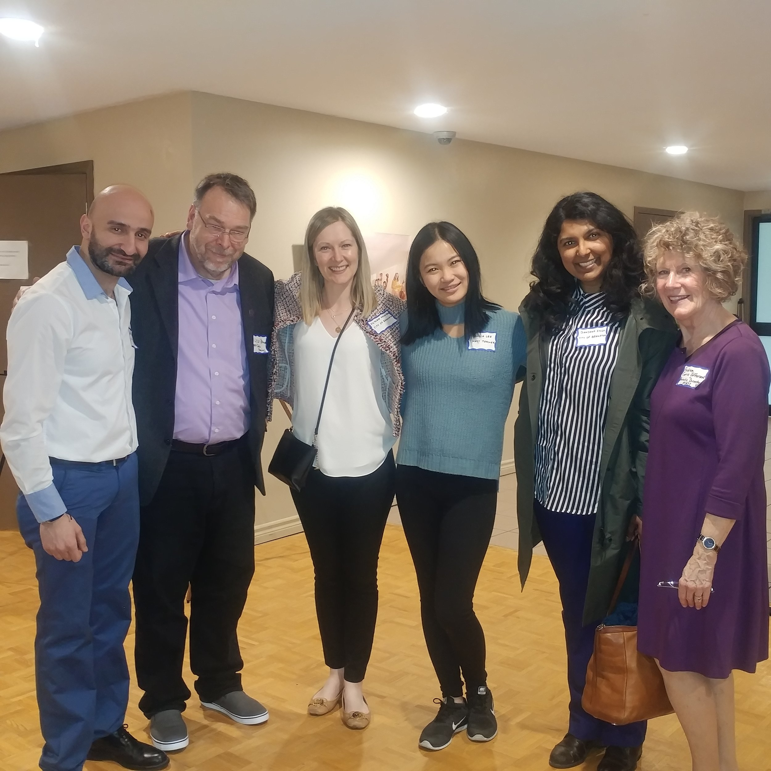 MATT Teachers Amir, Lyle and Cecilia and Ms.Andrea with Victoria Mountain Manager of Culture (left) and Bandana Singh, Chief Grants Officer, City of Brampton
