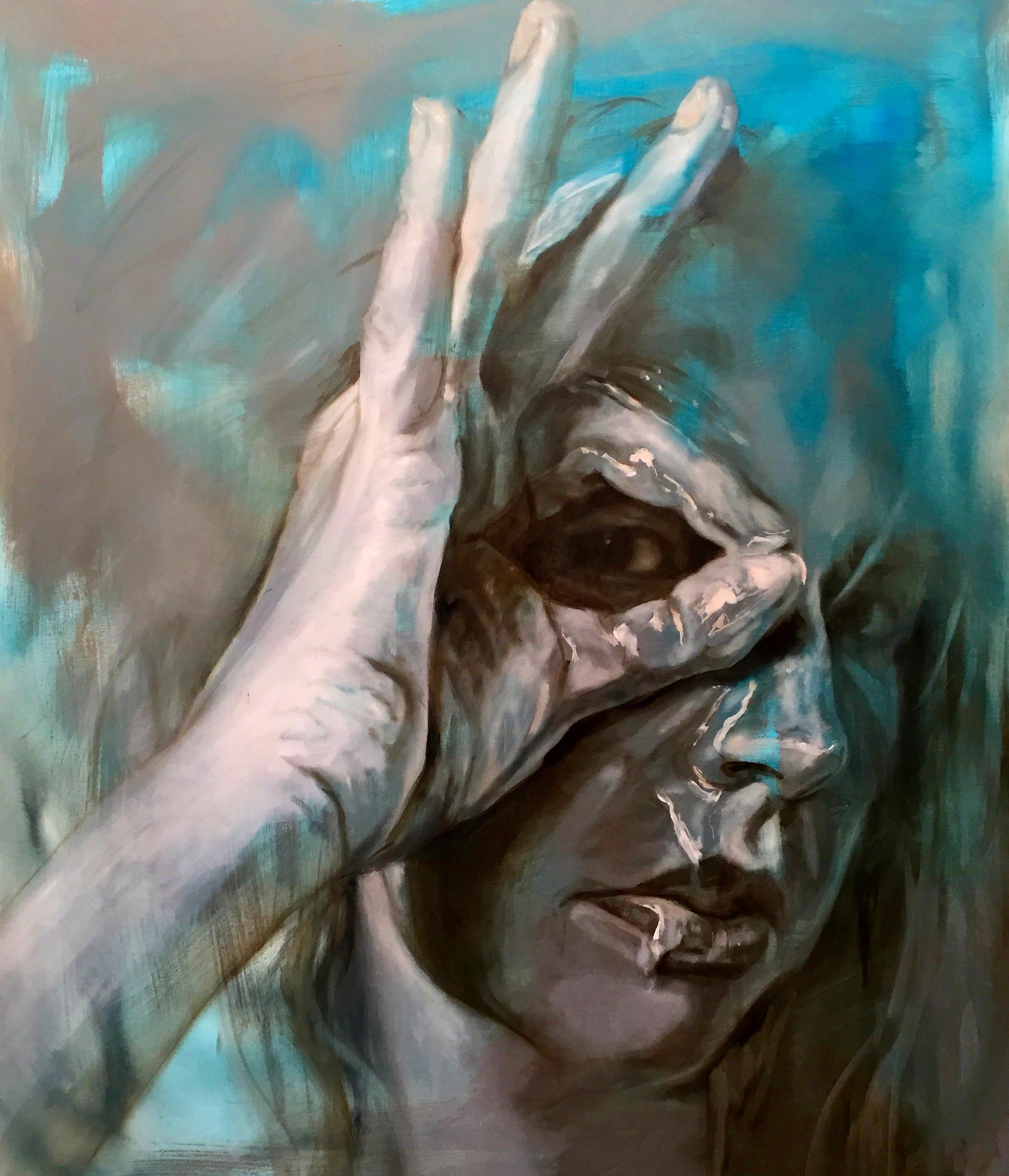 Eye-Spy, 100x120cm, Oil on Canvas