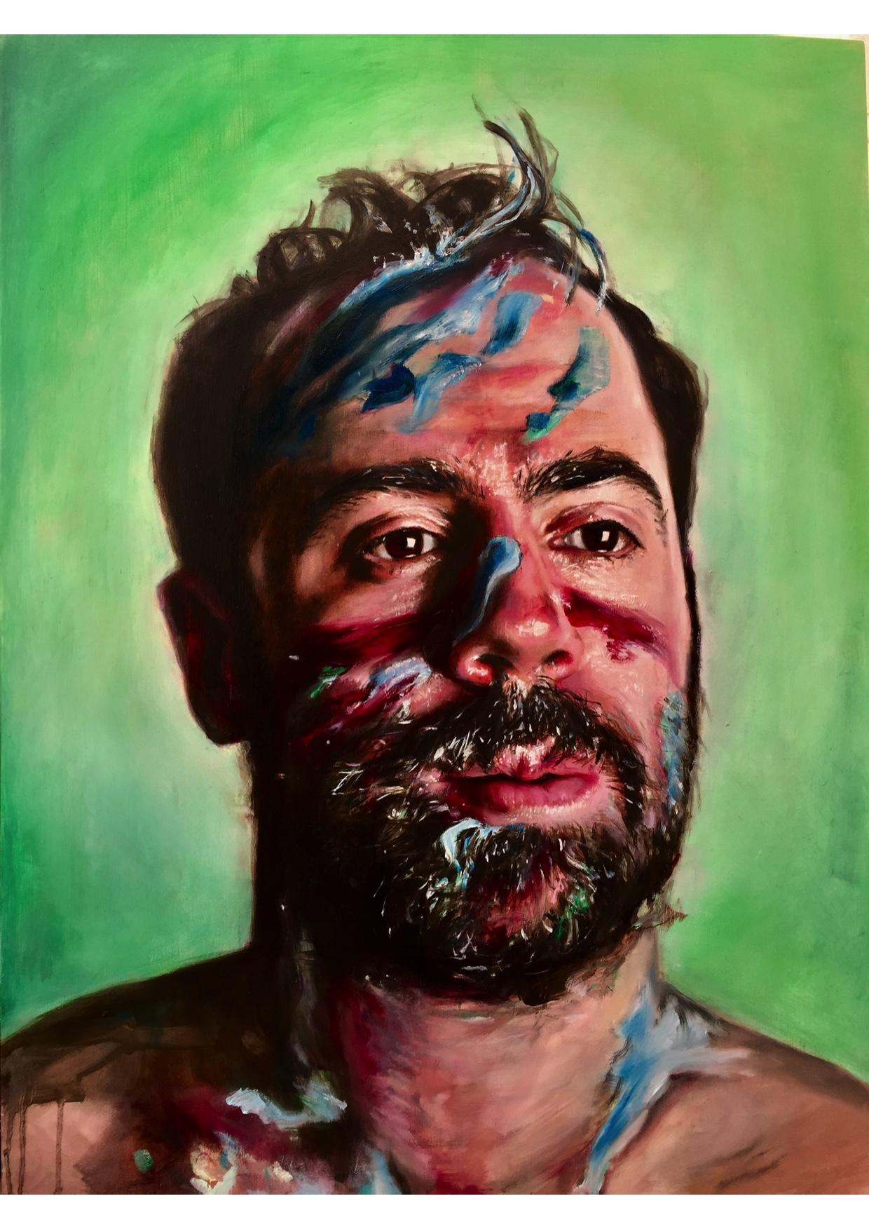 Dan, Paint Play. Oil on Board, 60x80cm (SOLD)