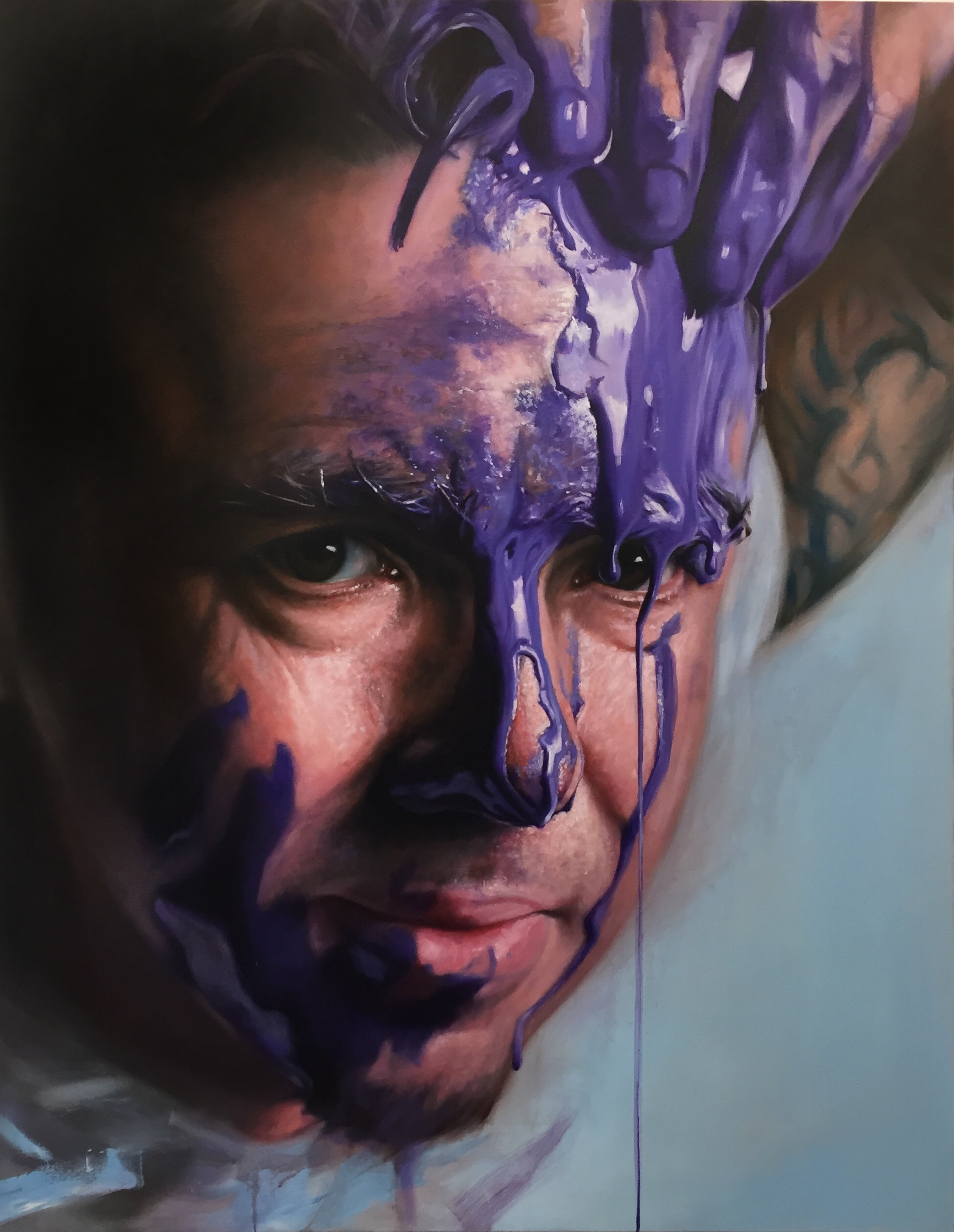 Purple Paint Play Commission, 110x140cm, Oil on Canvas (SOLD)