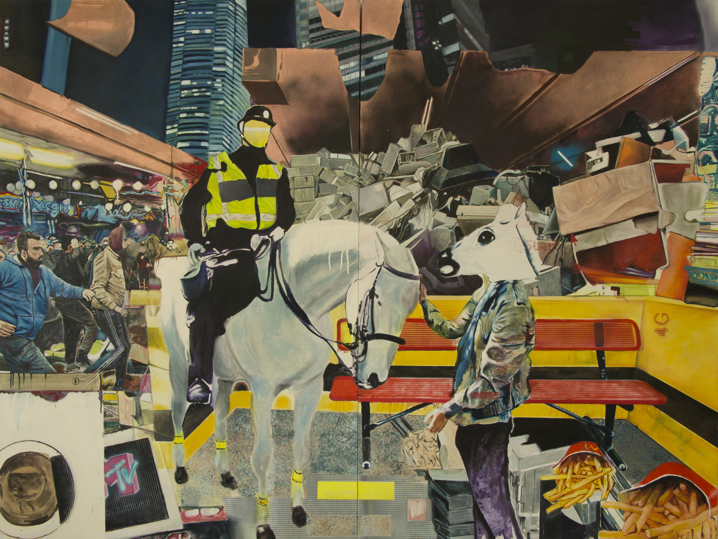 Sam Creasey  Creature Comforts, 2018 Oil on canvas 150 x 200 cm