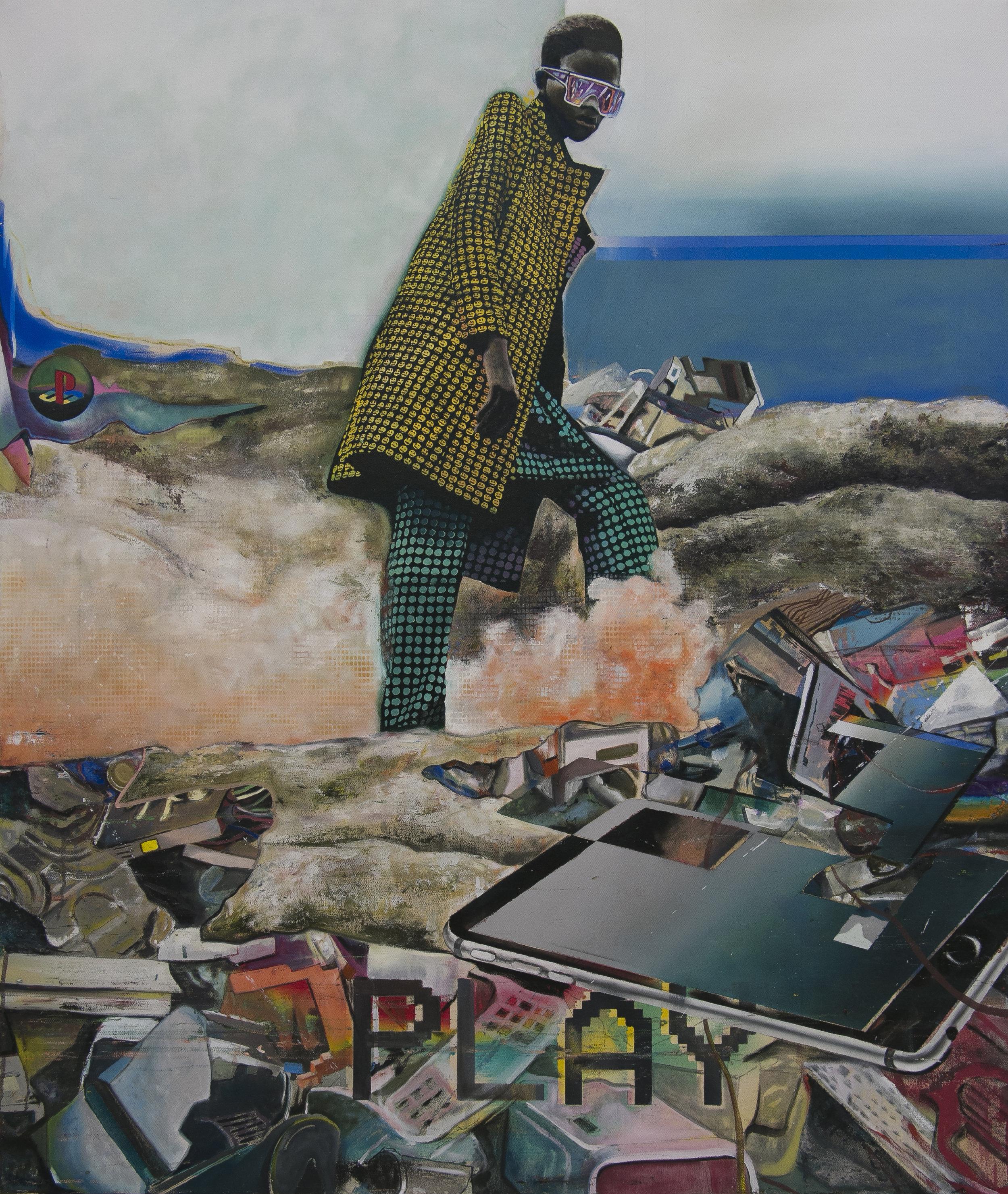 Sam Creasey   Play, 2017 Oil on canvas   100 x 120 cm