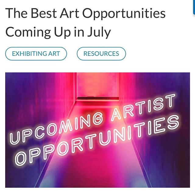 """Our current Open Call is listed in """"The Best Art Opportunities Coming Up in July"""" blog by @artworkarchive! To have your work considered, apply by July 7th. Link in bio . . .  Blog link: artworkarchive.com/blog/the-best-art-opportunities-coming-up-in-july  #foa #art #emergingartist #painting #contemporaryart"""