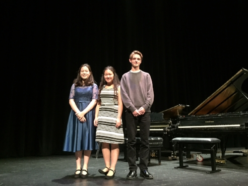 Megan performed Rhapsody in Blue and was awarded 3rd prize in Advanced B. Lilia played Mozart #21 for an HM, and Alex was awarded 2nd prize for his Shostakovich #2!