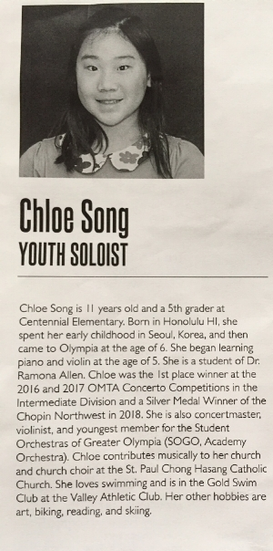 Biography from the concert program