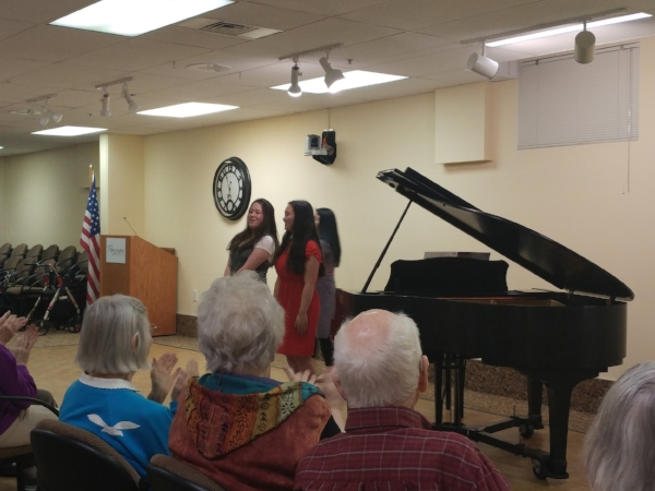 """The crowd loved the """"C.S. Variations"""" duet as well as the other pieces performed!"""
