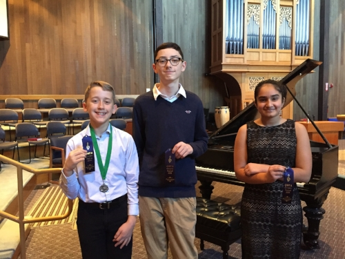 Calvin (3rd prize), Luke, and Viveka: Lower Intermediate Division