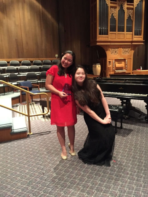 Lilia (1st prize) and Megan (Honorable Mention):  Advanced B division.  Lilia performed Mendelssohn's G minor Concerto, 3rd movement, and Megan performed Shostakovich's Concertino, Op. 94.