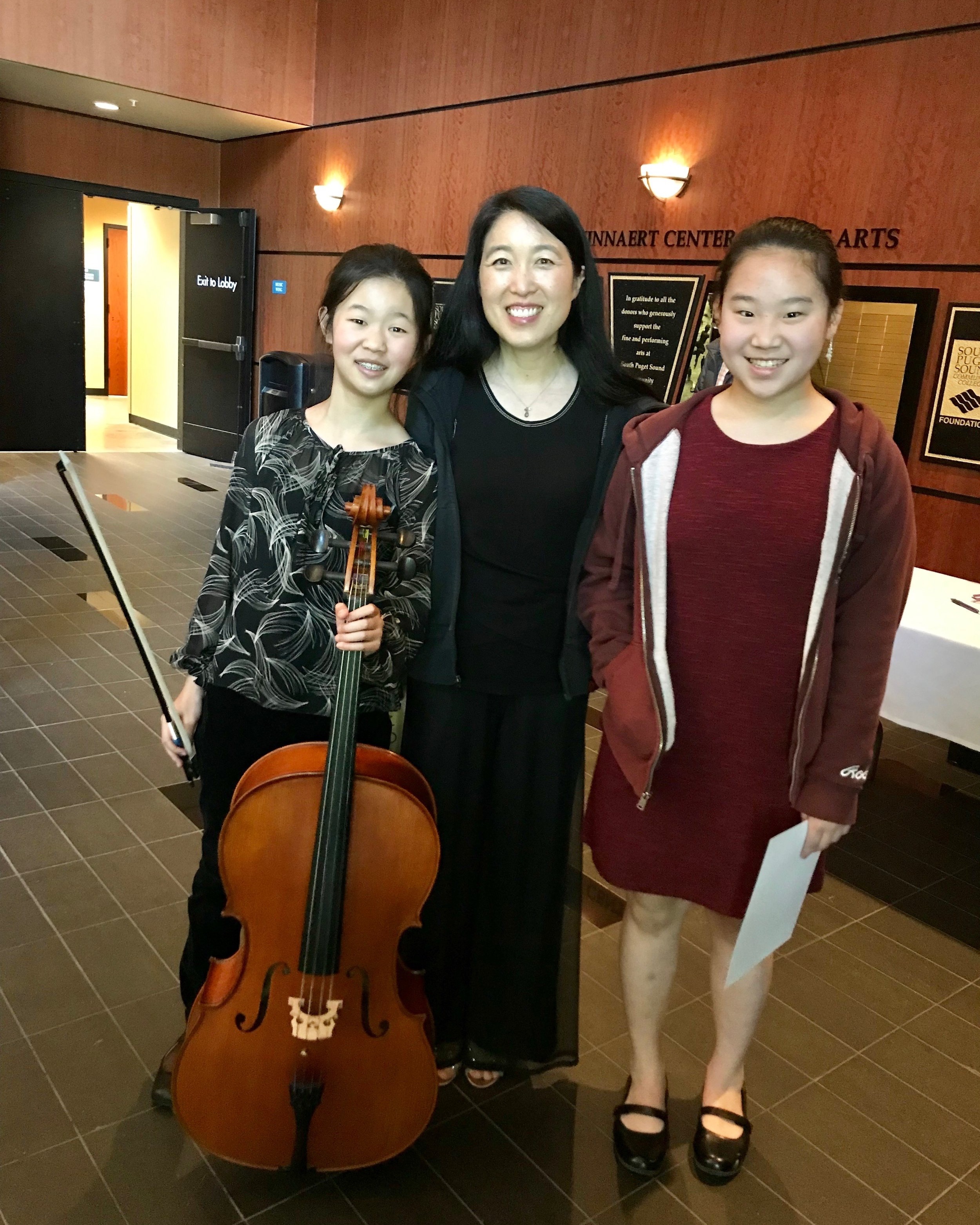 """So proud of these talented young musicians!  Sky played an exquisite """"Meditation from Thais"""" and Chloe won over the judges with her """"Fantasie Impromptu""""."""