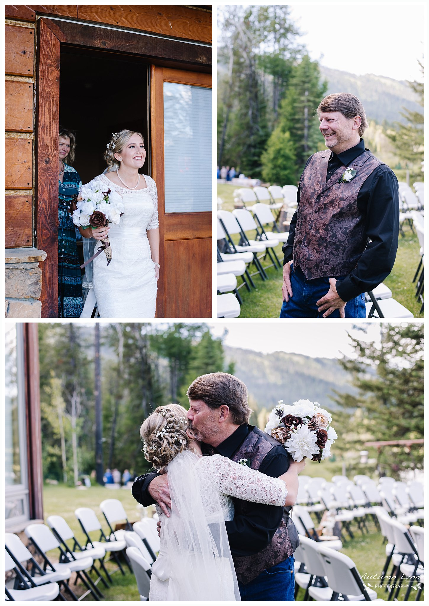 father daughter first look. wedding photography. idaho wedding photographers