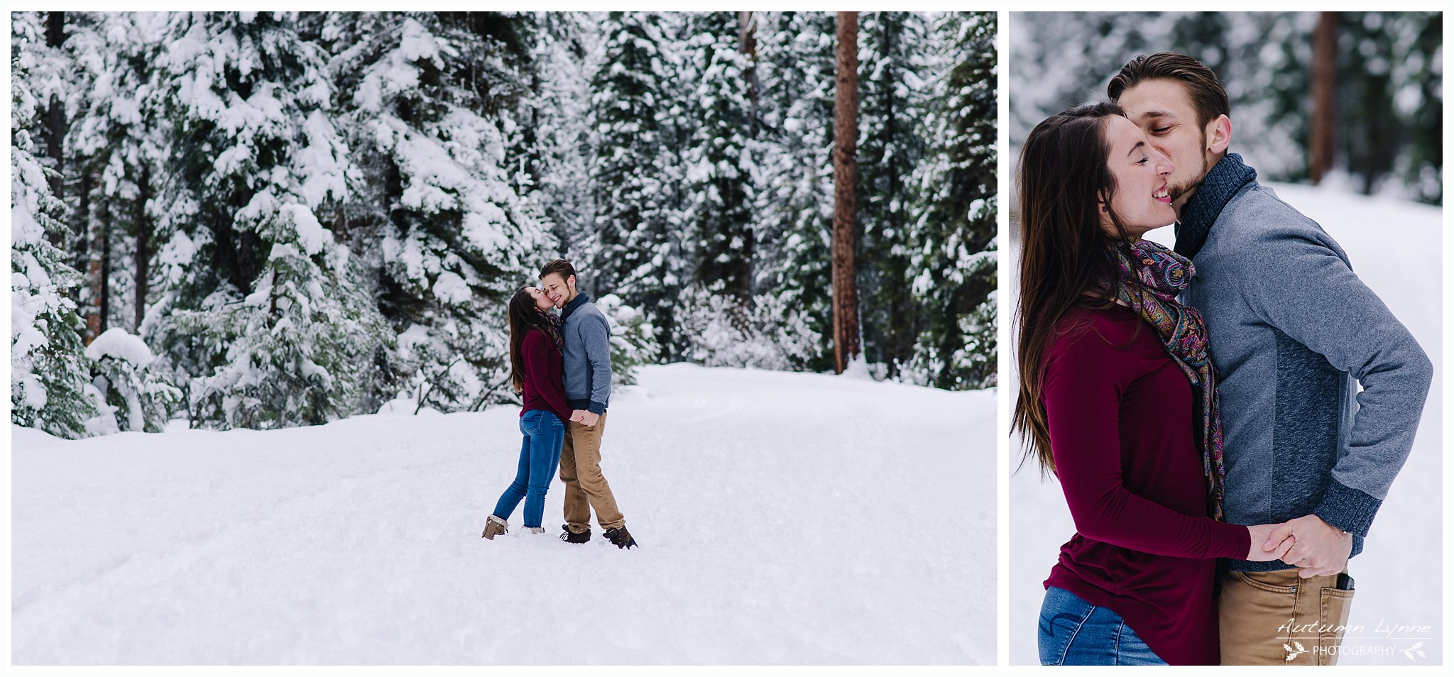 couple-kissing-snowy-engagement-photography-Idaho