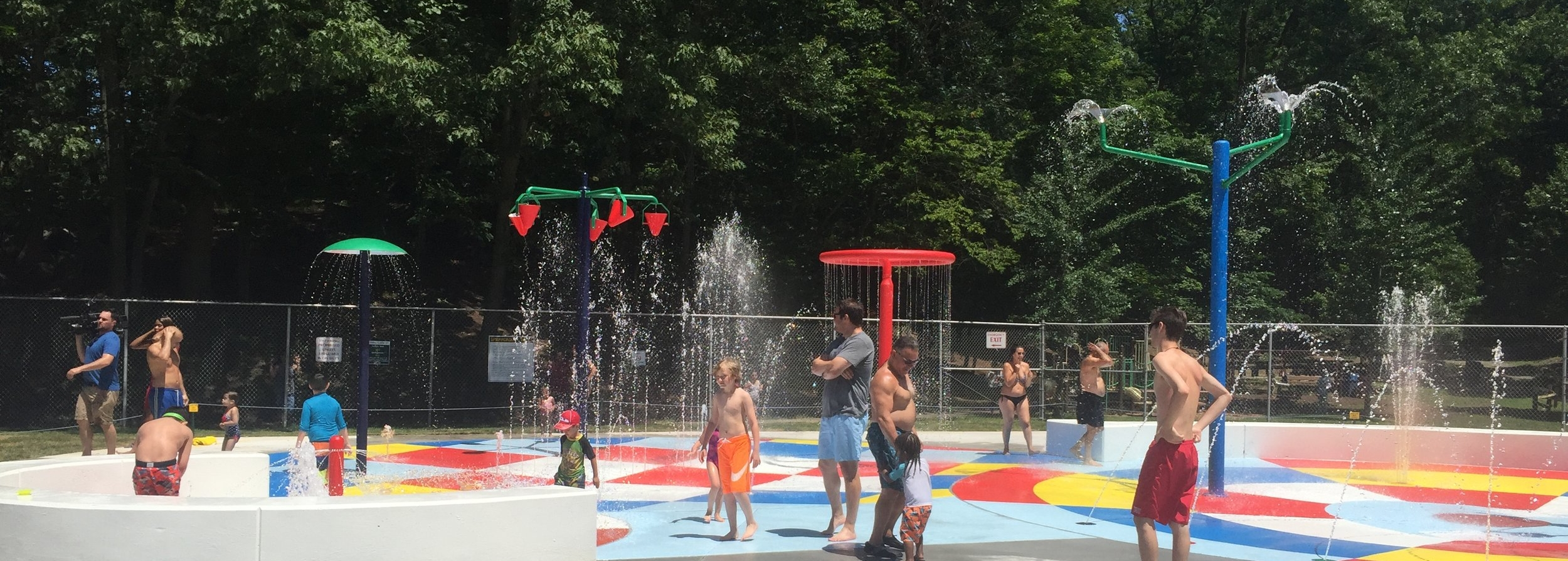 Sprain Ridge spray park.