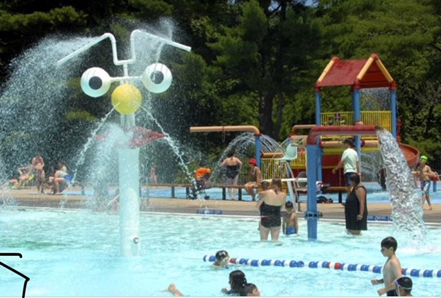 The County's Saxon Woods pool is located off the Hutchinson Parkway in White Plains, 5 miles from Edgemont.
