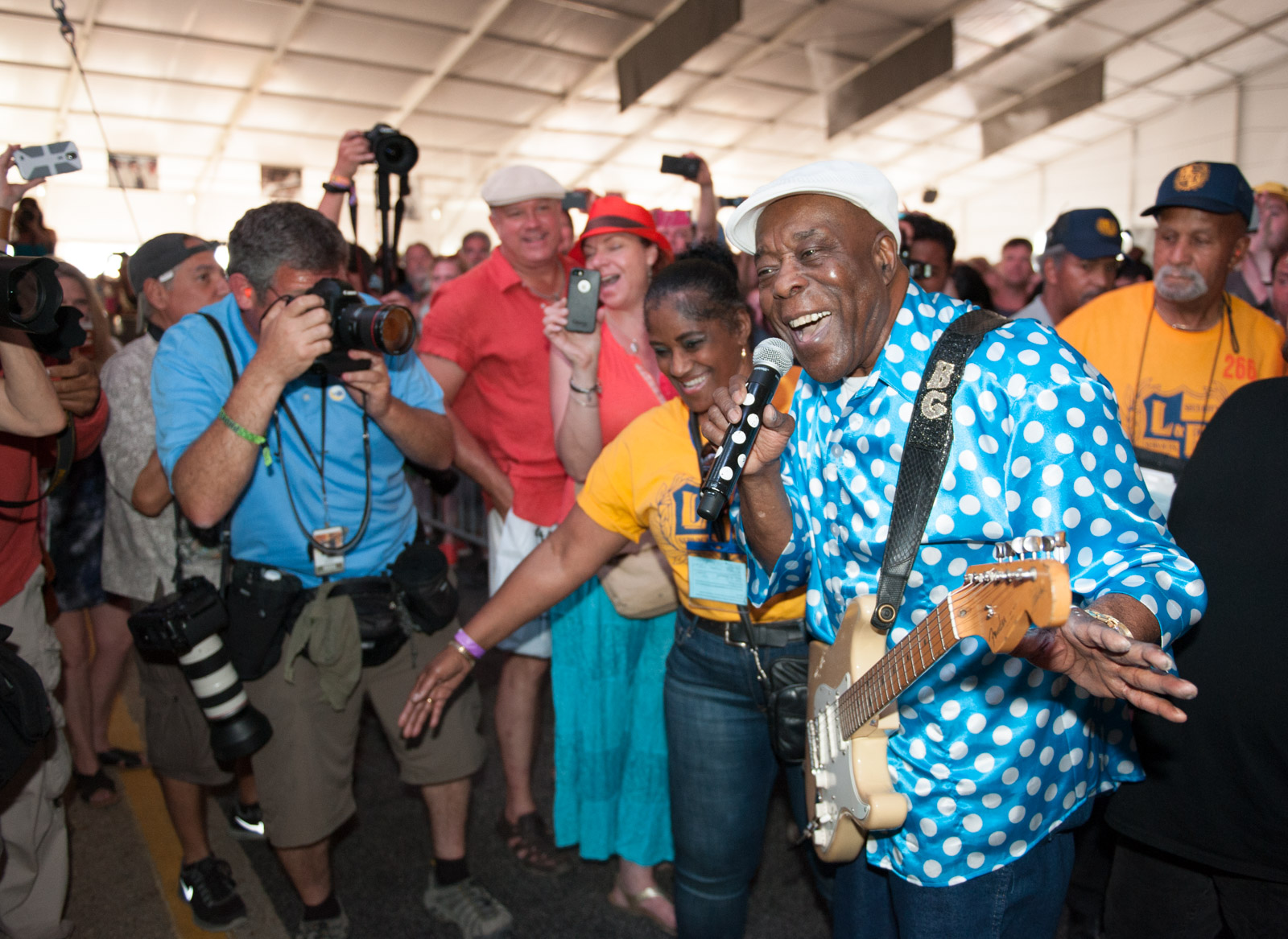 Buddy Guy Walks Through the Crowd in New Orleans.jpg