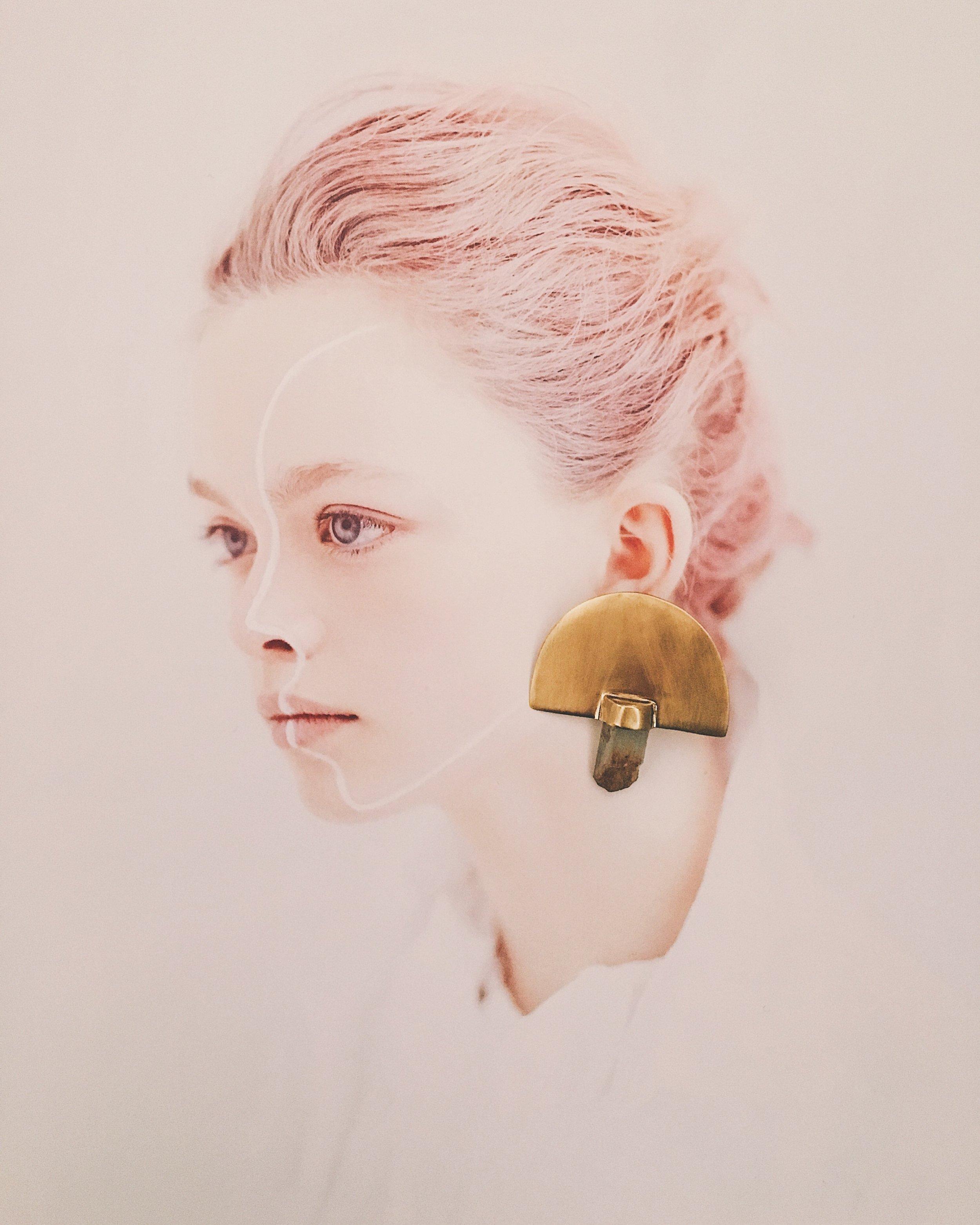 ' Palm Earrings'