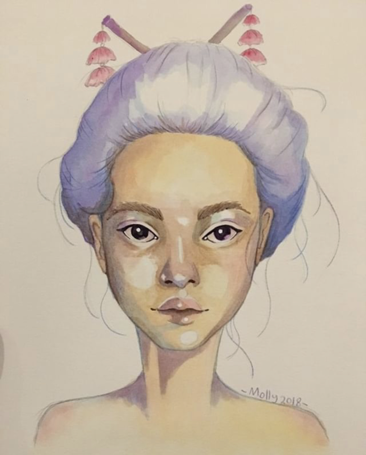 Pencil and watercolour illustrations