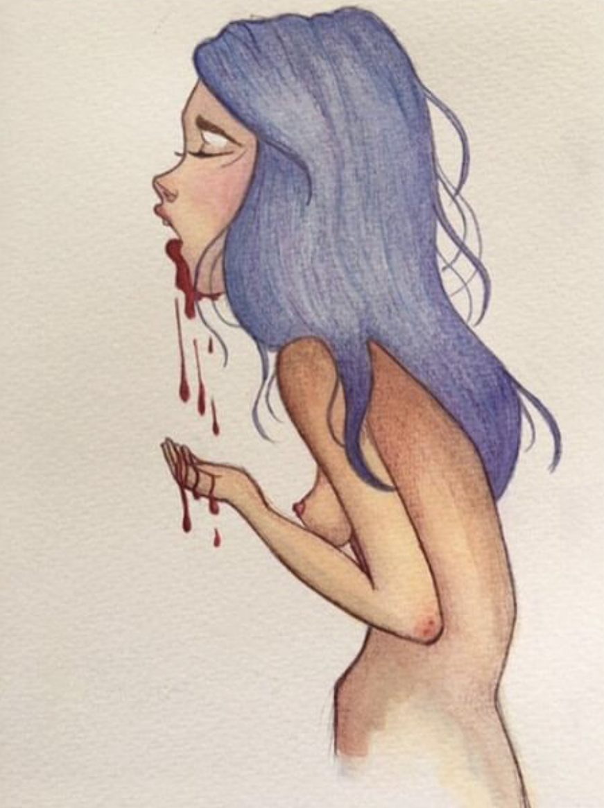 Pencil and water colour illustrations