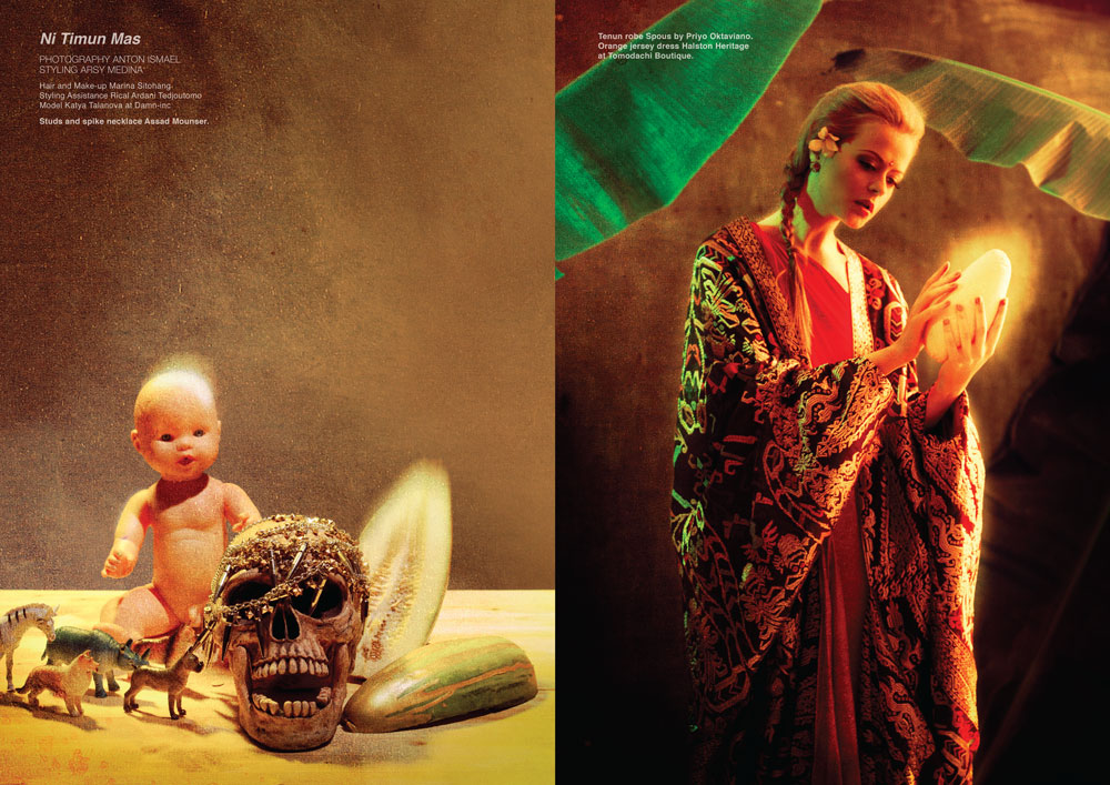 'Ni TImun Mas', Fashion Spread for Dew Magazine photographed by Anton Ismael