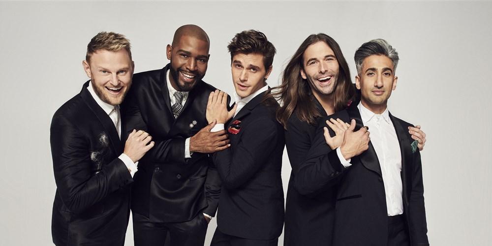 "The cast of Netflix's ""Queer Eye"" reboot includes (L-R) Bobby Berk, Karamo Brown, Antoni Porowski, Jonathan Van Ness and Tan France | Gavin Bond / Netflix"