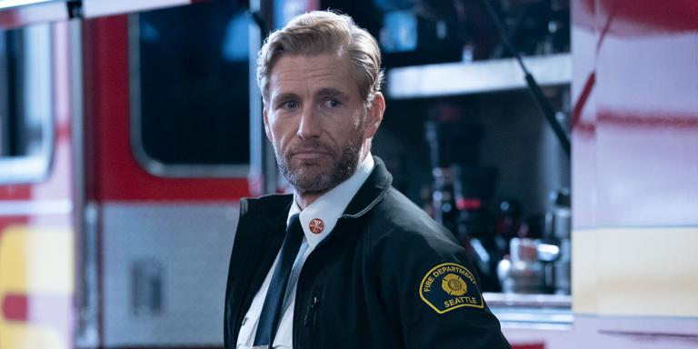 Brett Tucker as Captain Ripley on 'Station 19'  Getty Images