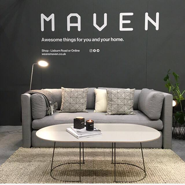 Maven, Lisburn Road, Belfast.  Wonderfully simple but well designed and contemporary Scandinavian and Irish furniture and homewares from Maven