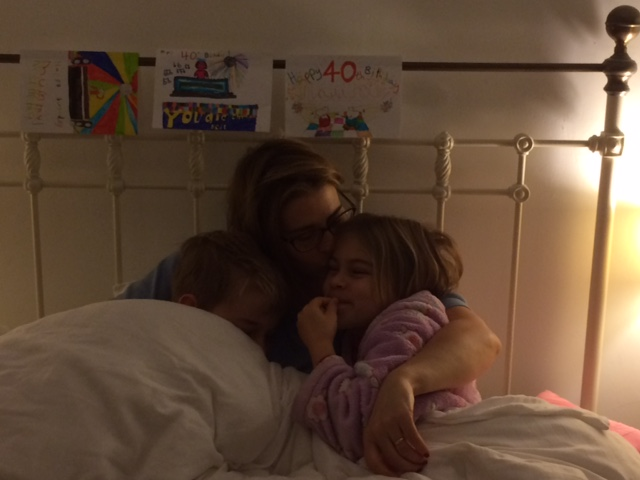 Snuggles with the nippers and homemade cards - best pressies ever :-)