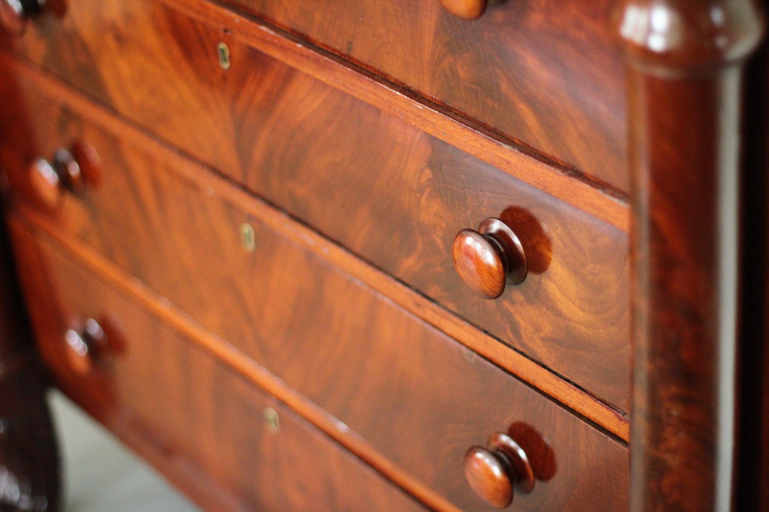 Original dresser used by Van Buren.